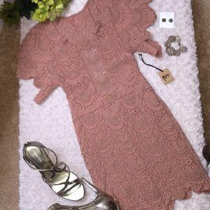 Nightcap dress in dark blush (Valentines Day 😉)